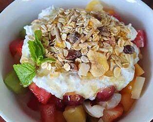 Overnight Chai Pudding & Fruit Salad